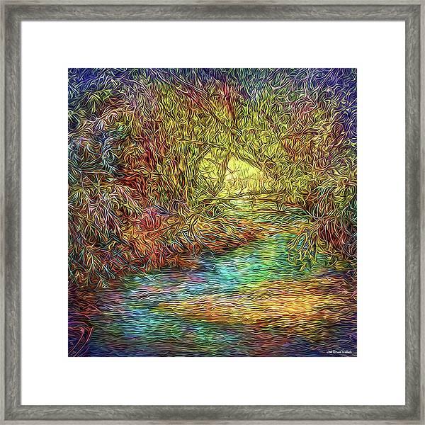 River Peace Remembering Framed Print