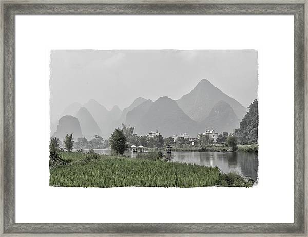 River Rafting Framed Print