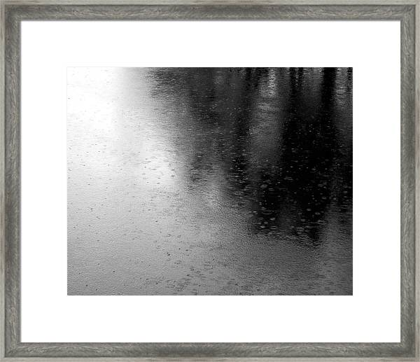 River Rain  Naperville Illinois Framed Print