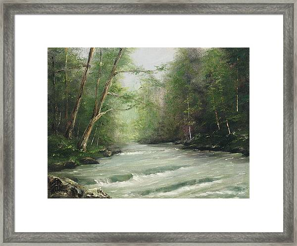 River Retreat Framed Print