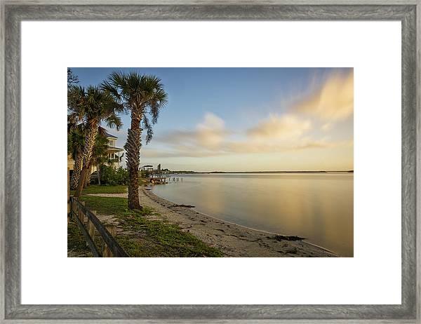 River Road  Sunrise  Framed Print