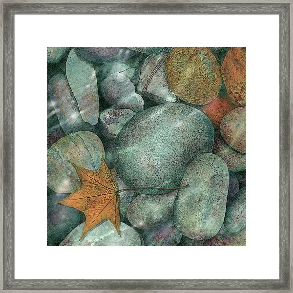 River Rocks Framed Print