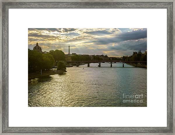 River Seine At Dusk Framed Print