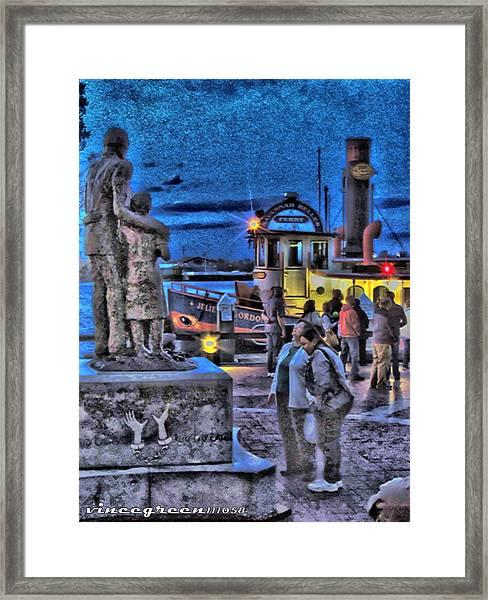 River Street Blues Framed Print