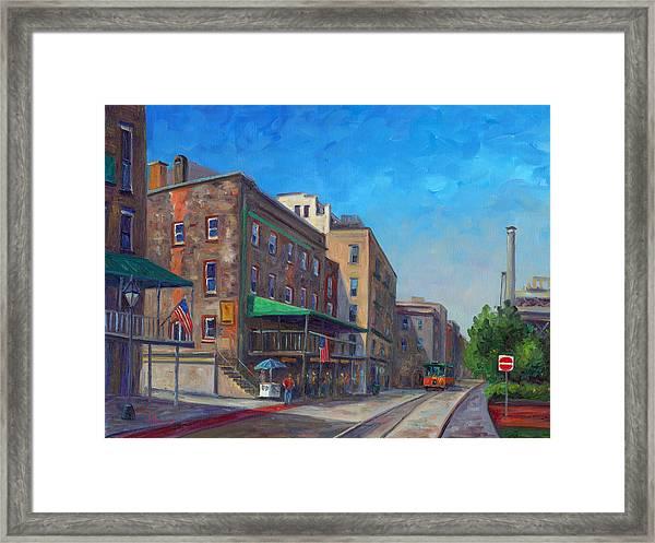 River Street Savannah Framed Print by Jeff Pittman