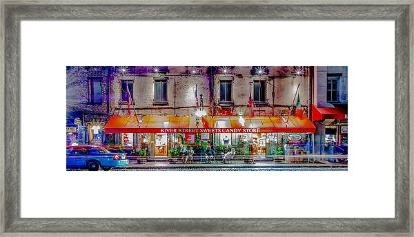 River Street Sweets Candy Store Savannah Georgia   Framed Print