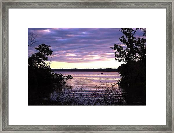 River Sunrise Framed Print