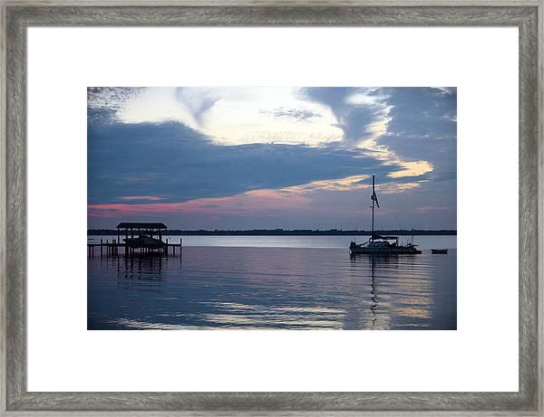 River Sunset Framed Print