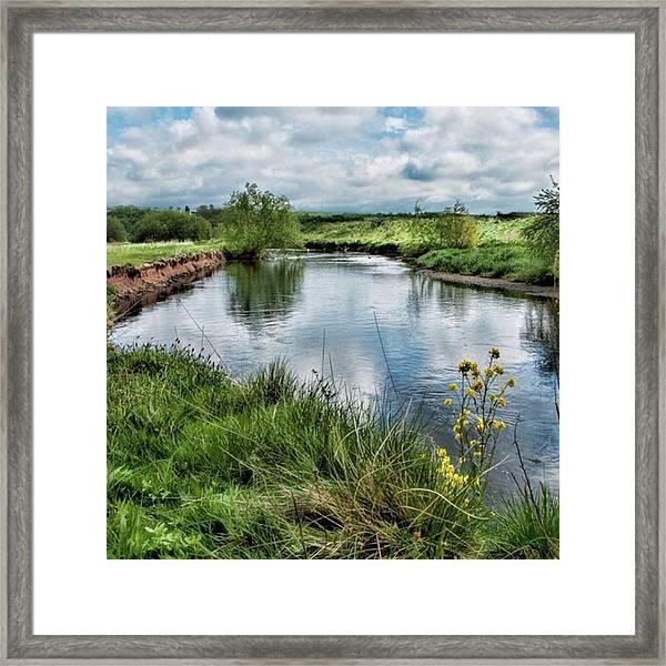 River Tame, Rspb Middleton, North Framed Print