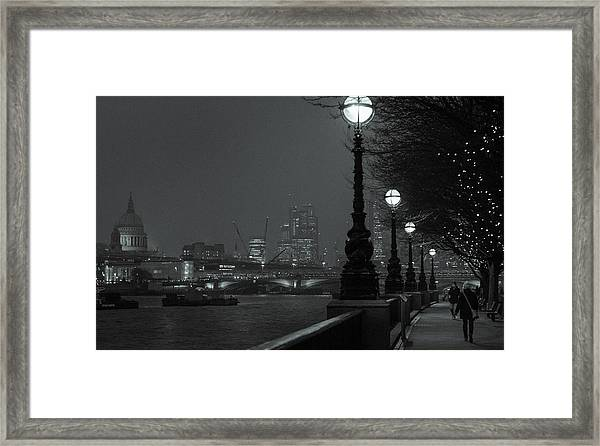 River Thames Embankment, London 2 Framed Print