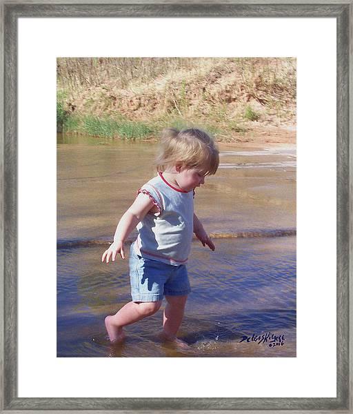 River Wading Framed Print