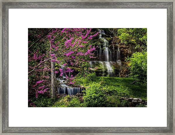Rivercut Waterfall Framed Print