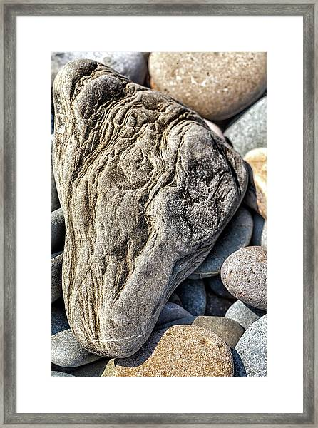 Rivered Stone Framed Print
