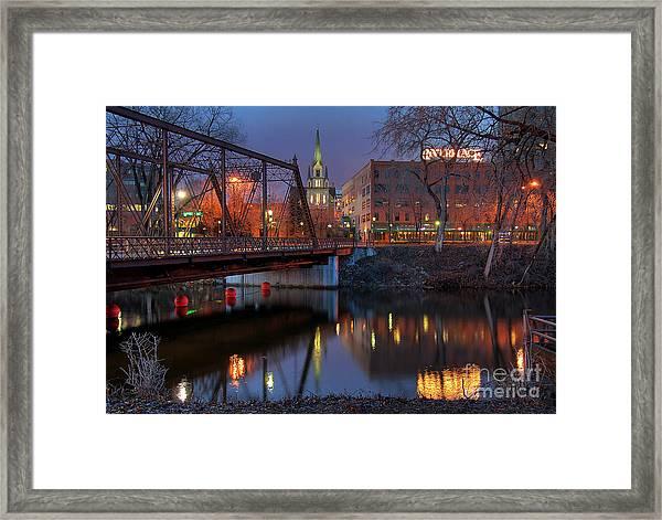 Riverplace Minneapolis Little Europe Framed Print