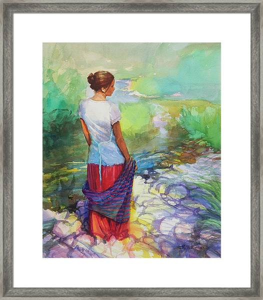 Riverside Muse Framed Print