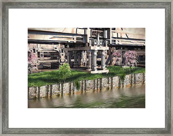 Riverside Pavilion Framed Print