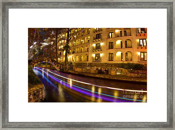 La Mansion Del Rio Riverwalk Christmas Framed Print