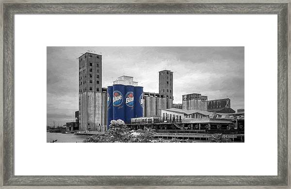 Riverworks Blue Framed Print