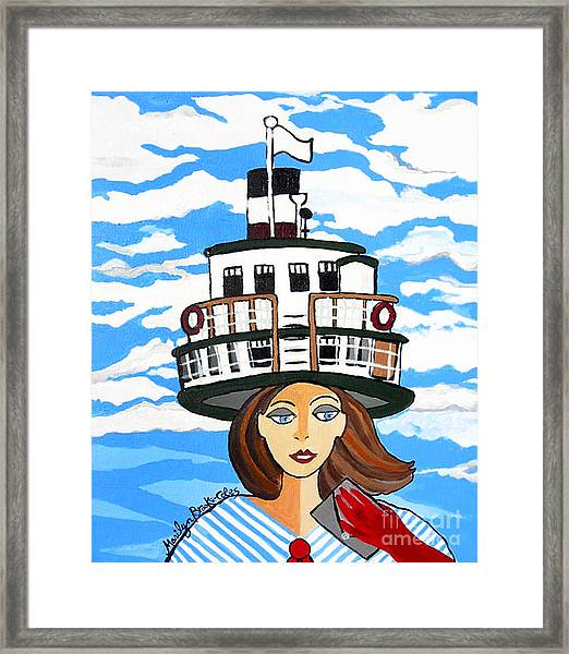R.m.s. Segwun - Delivering The Mail  Framed Print