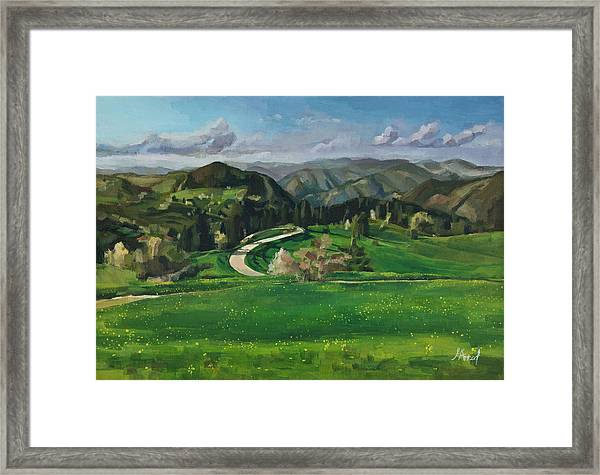 Road In The Mountains Framed Print