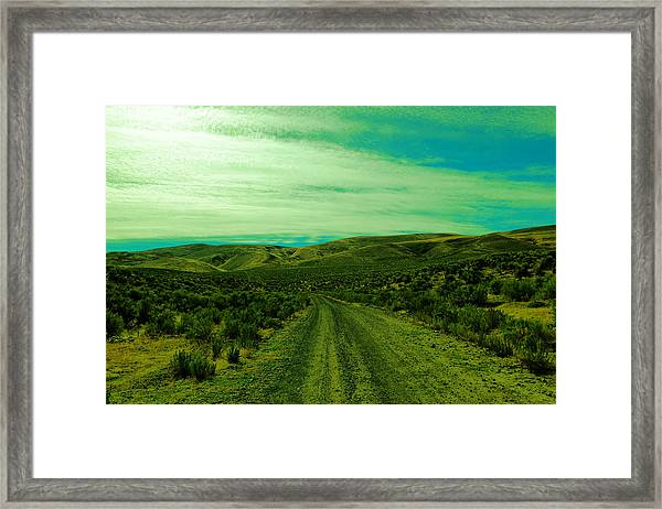 Road Into The Foothills Framed Print