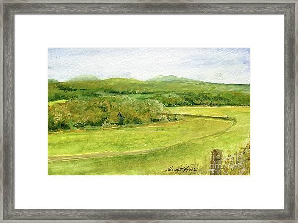 Road Through Vermont Field Framed Print