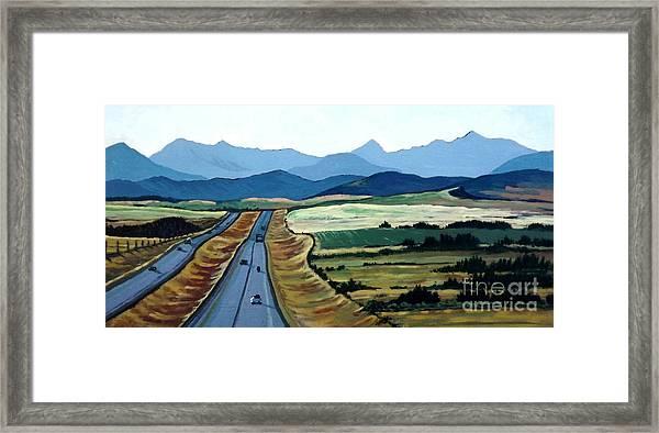 Road To Banff Framed Print