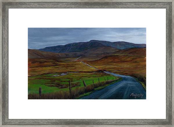 Road To Glenveagh Framed Print