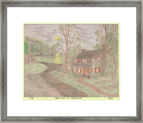 Road To Happiness Framed Print