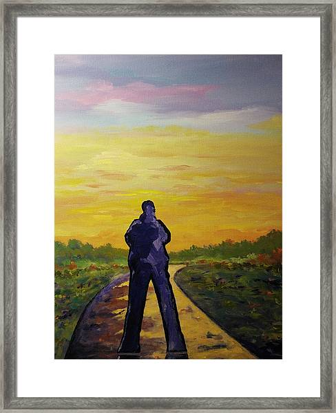 Framed Print featuring the painting Road To Heaven by Ray Khalife