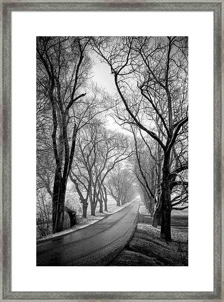 Framed Print featuring the photograph Road To Meems Bottom Bridge by Williams-Cairns Photography LLC
