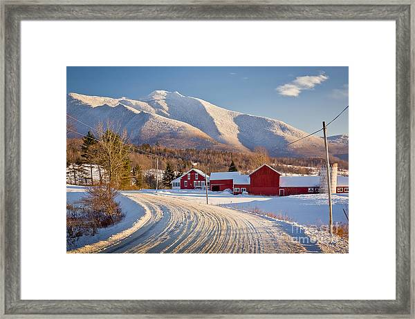 Road To Mount Mansfield Framed Print