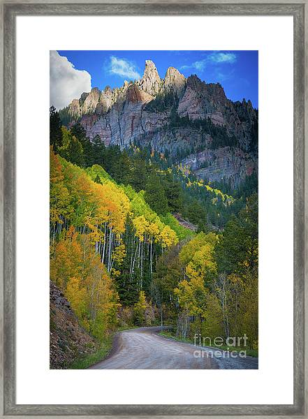 Road To Silver Mountain Framed Print