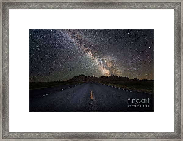 Road To The Heavens Framed Print