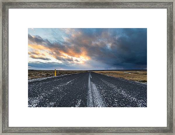 Road To The Sky Framed Print
