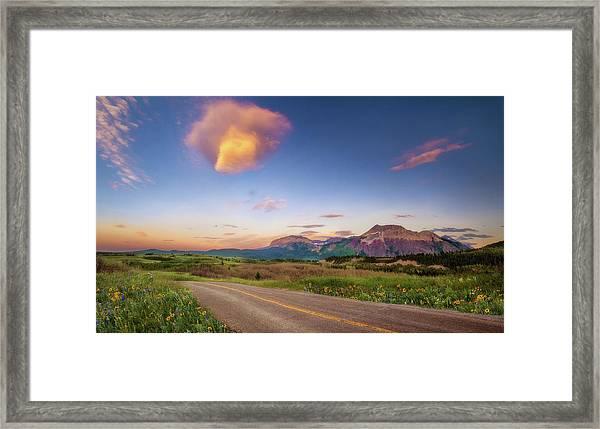 Road To Wherever Framed Print