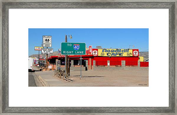 Roadkill Cafe, Route 66, Seligman Arizona Framed Print