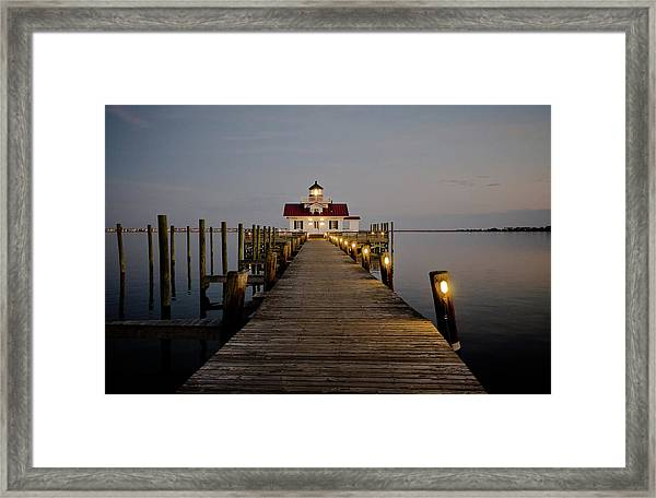 Roanoke Marshes Lighthouse Framed Print