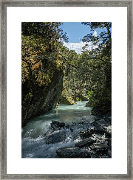Rob Roy Stream New Zealand Framed Print