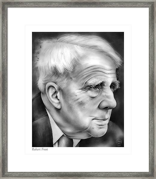 Robert Frost Framed Print