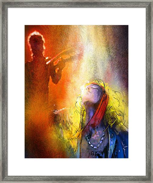Robert Plant And Jimmy Page 02 Framed Print