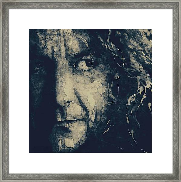 Robert Plant - Led Zeppelin Framed Print