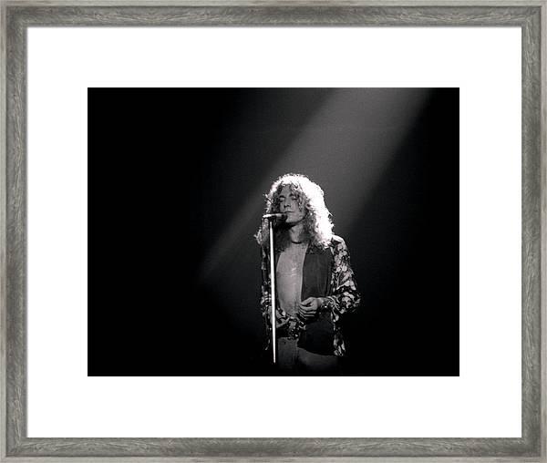 Robert Plant Of Led Zeppelin Framed Print