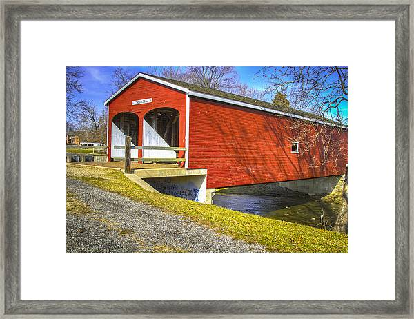 Roberts Covered Bridge Framed Print