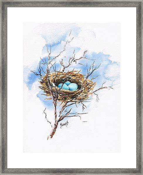 Robin's Nest Framed Print