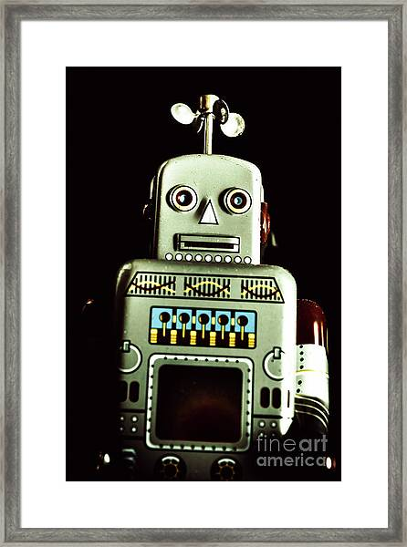 Robotic Spaceman Framed Print