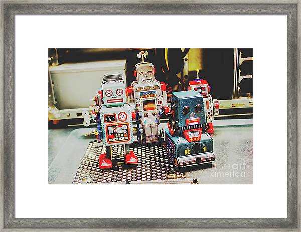 Robots Of Retro Cool Framed Print