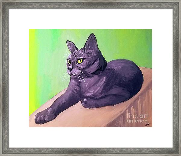 Robyn Date With Paint Mar 19 Framed Print