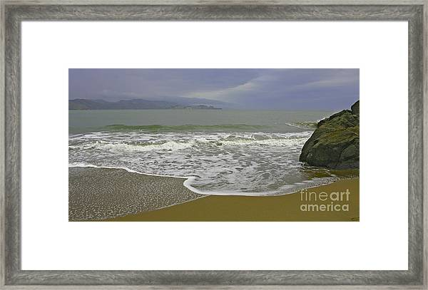 Rock And Sand Framed Print