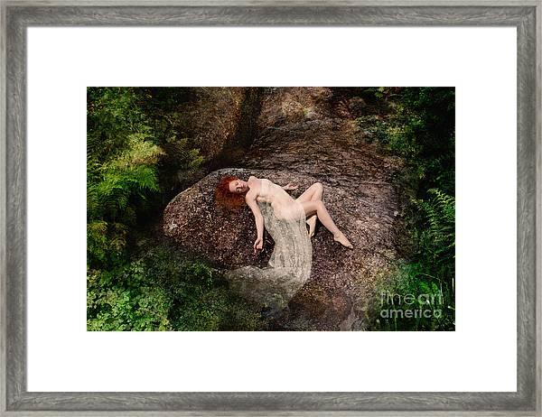 Rock Bathing Framed Print